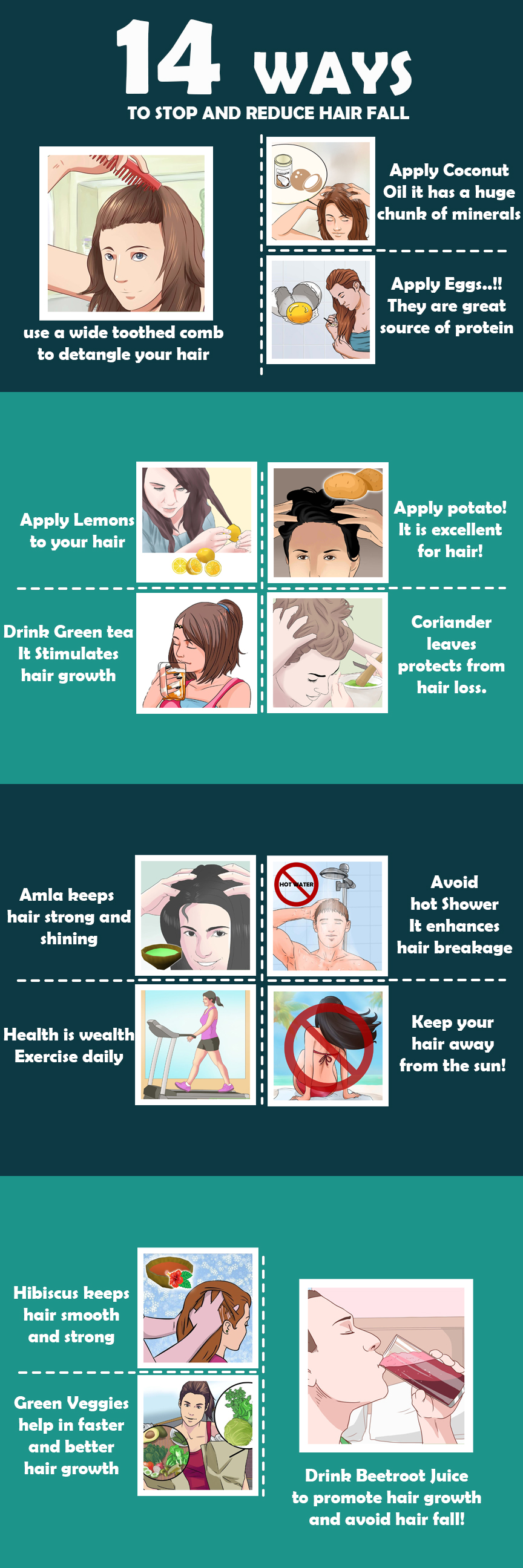 How to stop and reduce hair fall