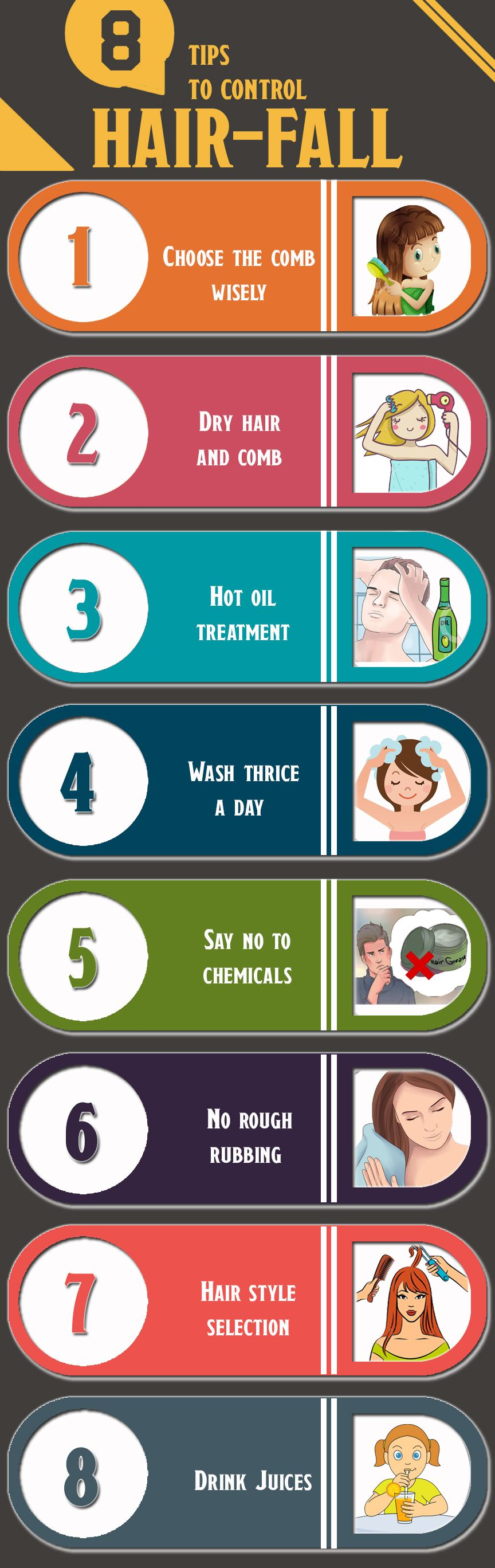Tips to control hair fall